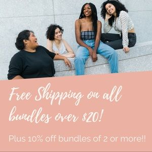 Free shipping on all bundles over $20!